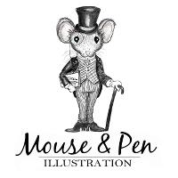 Mouse & Pen Illustration logo